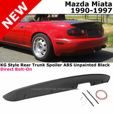 KG  Style Trunk Spoiler 90-97 Miata MX5 MX-5 Rear Deck Lid ABS Plastic Primer