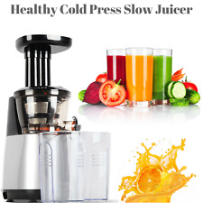Electric Cold Press Slow Juicer Juicing Machine Separate Pulp & Juice Fruit Vege