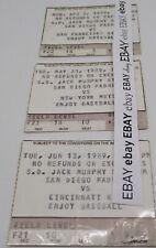 San Diego Padres 1989 Jack Murphy Stadium California Ticket LOT of 3