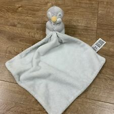 M&S MARKS AND SPENCERS CUTE PENGUIN BABY COMFORTER TOY GREY