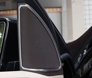 Chrome Front Door sound Speaker Frame Cover trim For Benz GLE GLS 2016 2017 2018