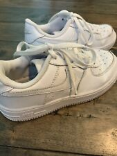 Nike Girls Size 2Y White Sneakers Pre-owned