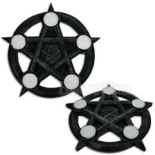 WICCAN PENTAGRAM TEALIGHT CANDLE INCENSE HOLDER PAGAN GOTHIC OCCULT FANTASY 26CM