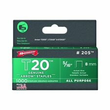 Arrow 205 T20 5/16in. All Purpose Staple 1,000/Box
