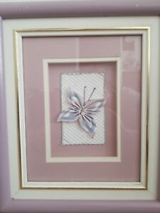 Butterfly Pictures Lavender and Blue Wall Art Home Decor Matted Applique Canada