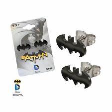316L Surgical Steel, Batman, Stud, Post Earrings Sold as a pair DC Comics