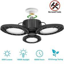 LED Garage Light Bulb Deformable Ceiling Fixture Lights Workshop Shop Home Lamp