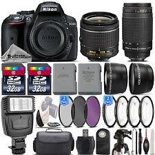 Nikon D5300 24.2MP DSLR Camera + 18-55mm VR Lens + Nikon 70-300mm Lens- 64GB Kit