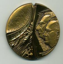 SUMMIT ITALY-USSR Official Commemorative Medal 1989 Cossiga Gorbachev