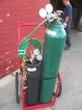 Welding/Cutting Set Up - 225 Cu Oxygen & Acetylene Tanks-Cart-Torch-Gauges Hose
