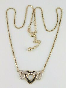 """Ross Simons Gold Over 925 Sterling Silver Sapphire Necklace 16"""" - 18"""" Long"""