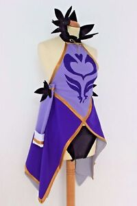 Fairy Tail Lucy Heartfilia 7 years later Cosplay Costume purple dress