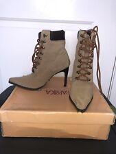 women's high heel combat boots Size 7