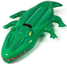 "LARGE CROCODILE INFLATABLE swim lilo pool toy swimming beach 80"" NEW"