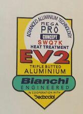 Bianchi EV2 frame decal