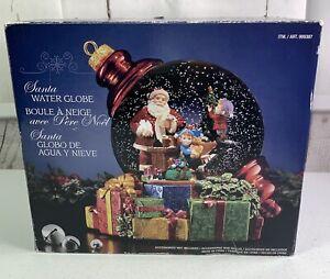 NEW! CHRISTMAS WATER SNOW GLOBE MUSICAL SANTA CLAUS & ELVES Kirkland Signature
