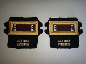 Pair Of New US CHIEF WARRANT OFFICER 2 CW2 Epaulets MADE IN USA By VANGUARD