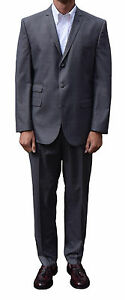 CHARCOAL GREY POW SINGLE BREASTED SUIT GET UP MOD CLOTHING SKINHEAD SKA SOUL