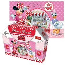 Trefl 50 Piece Glam Glitter Girls Minnie Mouse Jigsaw Puzzle Gift Boxed NEW