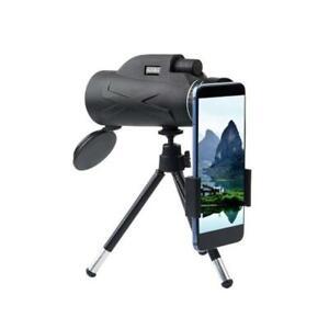 80x100 BAK4 HD Zoom Prism Monocular Telescope+Tripod+ Phone Clip Waterproof