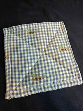 Mallard Duck Pot Holder 8 x 8 Blue Plaid Embroidered Cotton