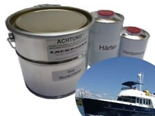 8 Liter Set 2K RAL 5011 Stahlblau Bootslack Yachtlack Motorboot Blau Lackpoint !