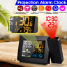 Digital Projection LED Alarm Clock with Temperature Weather Station LCD Display