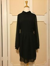 KIM KARDASHIAN KOLLECTION KK COLLAR LINED SEMI SHEER DRESS~ BLACK~M /MEDIUM~NWT!