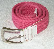 Vicomte Arthur Pink Braided Belt - Size 75 - US 30 - Italy