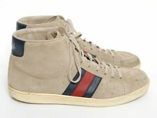 GUCCI Men Beige Sneakers Suede Lace Up Casual Low Top Trainers Size US 8.5