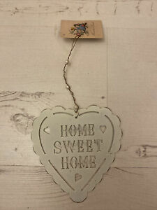 HOME SWEET HOME Metal Heart Hanging Plaque Home Wall Decor