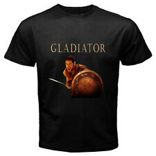 New Rare Gladiator Russell Crowe Movie Men's Black T-Shirt Size S to 3Xl
