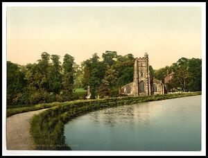 2 Old Photos Views Lichfield Cathedral St Chads Church Pictures Photochroms NEW