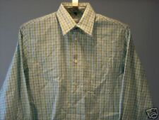 Geoffrey Beene Casual Shirt Green White S Men's Clothing New NWT