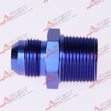 AN3 -3AN To 1/8'' NPT Straight Adapter Pipe Fuel Oil Air Fitting Blue