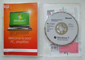Microsoft Windows 7 Home Premium Full 64 Bit Version DVD with Product Key + Case