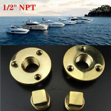 "2*Boat Garboard Drain Plug Cast Bronze For 1"" Diameter Hole 1/2''NPT Threads Set"