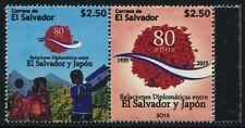 El Salvador 2015 Japan Dipl. Beziehungen Flaggen Flags Diplomatic Relations MNH