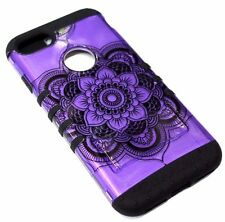 For iPhone 6 PLUS Purple Henna Hard Soft Hybrid Rubber Protector Armor Skin Case
