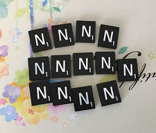 10 (TEN) Letter N, Black  Scrabble Tiles Letters, Individual, A to Z in Stock!