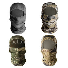 MOTORCYCLE CAMO TACTICAL OUTDOOR BALACLAVA FULL FACE MASK WINDPROOF MULTI COLORS
