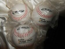 Worth Gold Dot C-Lok Softballs - group of 3 softballs - New