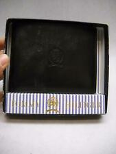 TOMMY HILFIGER Black BIFOLD Wallet ORIGINAL BOX Removeable SECTION Stamp