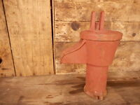 Cast Iron Hand Crank Well Pump Garden Decor Superior Wi Duplex Mfg Farmhouse