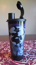 Tupperware NEW  Halloween Witch Haunted House Black Purple 16 oz 470 ML  TUMBLER
