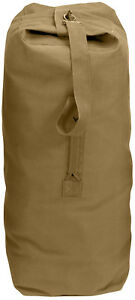 Top Load Military Duffle Bag Canvas Cargo Sea Duffel Large Heavy Cotton Travel
