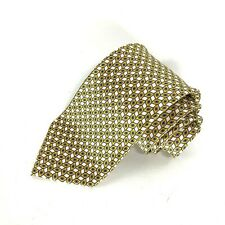 Brioni Necktie 100% Silk Handmade In Italy Yellow And White Tie
