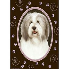 Paws Garden Flag - Fawn and White Bearded Collie 174831