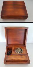 Telefono fisso vintage con scatola in legno Sitel