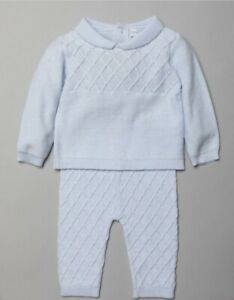 New in baby boys Spanish romany traditional 2 piece knitted outfit